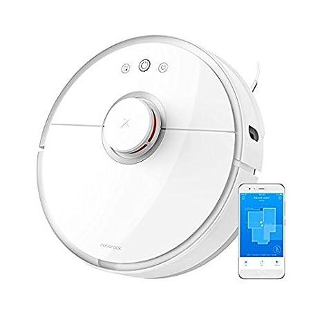 Fun Will Xiaomi Robot limpiador de vacío automático para arañazos Principal de color blanco con laser
