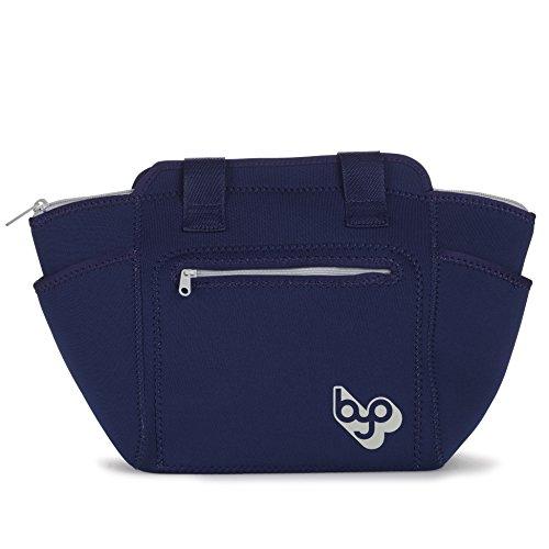 BYO 5213003 XL Adela Insulated Neoprene Lunch Tote, Navy Blue ()