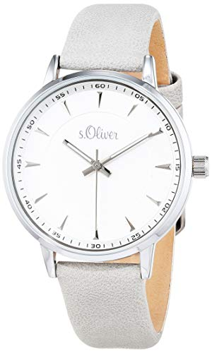s.Oliver Womens Analogue Quartz Watch with Leather Strap SO-3729-LQ