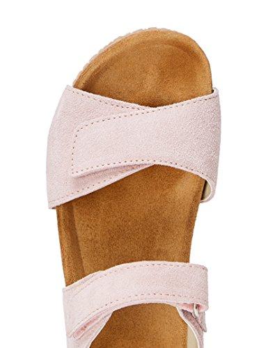 RED WAGON Sandalias de Ante con Velcro Niñas Rosa (Pink)