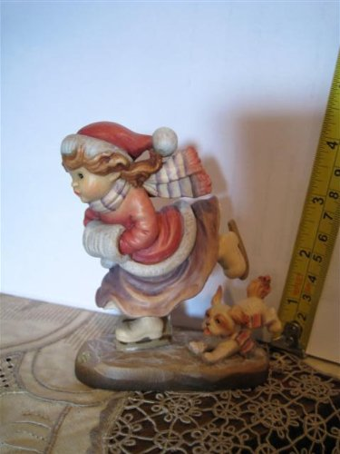 "Anri Woodcarvings - Sarah Kay ** Figure Eight 4"" ** 57170"