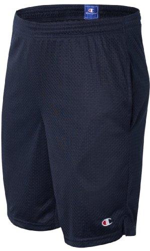 Champion Men's Long Mesh Short with Pockets 81622, M, Navy