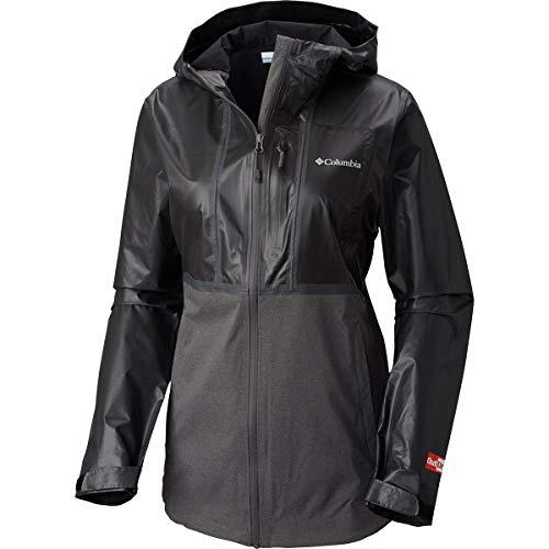 Womens Explorer Jacket - Columbia Outdry Explorer Hybrid Jacket - Women's Black/Charcoal Heat, XL