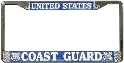 Elektroplate Retired Coast Guard 3D License Plate Frame