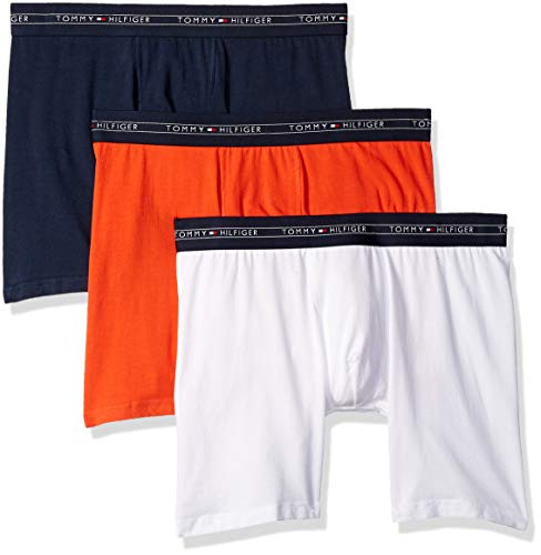 b8a9740c429f Tommy Hilfiger Men's Cotton Air 3 Pack Boxer Brief, Sunset Orange, Large