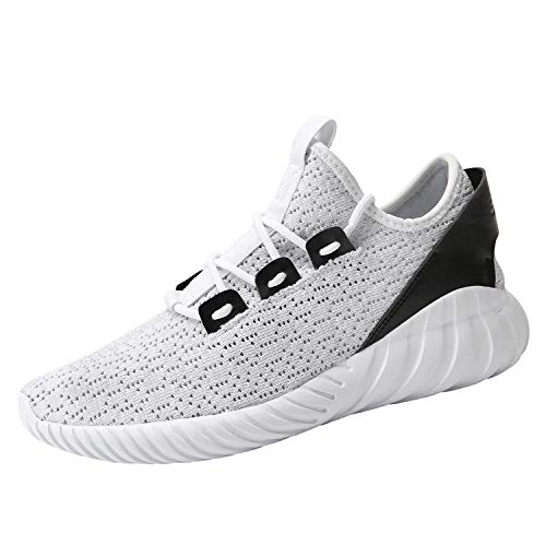 9c21d191678062 Hetohec Sport Baseball Shoes Knitted Fashion Outdoor Sneakers Lightweight  Gym Athletic Shoe for Men Trail Workout