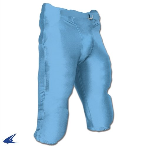 Light Pants Game Football - CHAMPRO Integrated Football Game Pant with Built-in Pads - 2XL - Light Blue - Adult