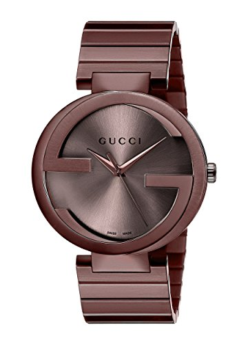 Gucci Men's Swiss Quartz and Stainless-Steel-Plated Dress Watch, Color:Brown (Model: YA133317)