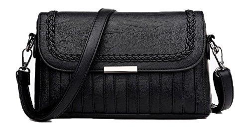 sacs bandoulière Achats Femme AllhqFashion à Sacs Pu Cuir FBUFBD180880 Des Zippers Noir wqXxfazx