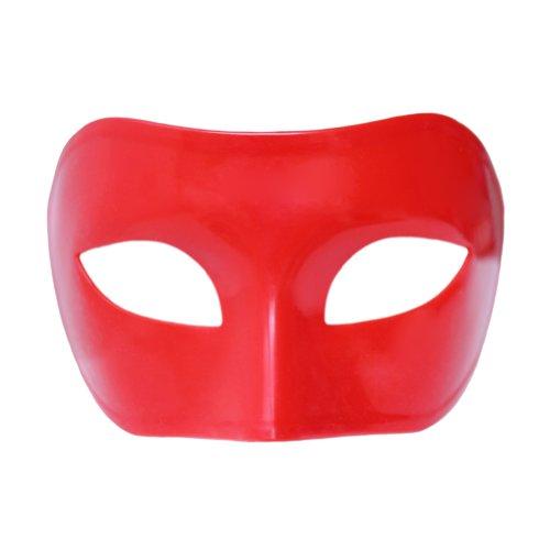 Custom Mardi Gras Masks - Red Venetian Masquerade Mask ~ Mardi Gras Prom Party Accessory (STC12939)