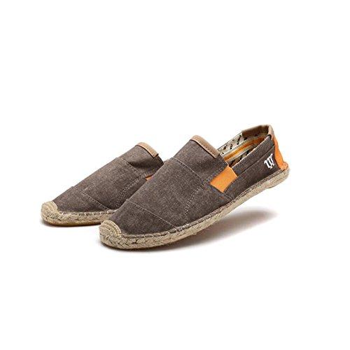 Cosidos Color De EU39 Hombres XUEQIN Hombres 3 Entrenador Lona Mano Para CN39 Lino A Alpargatas UK6 Ocasionales Zapatos Tamaño Elásticos Suela Fit 2 HnAqqWXa7