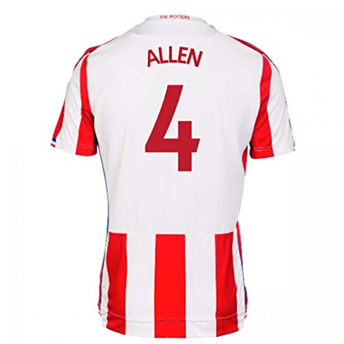 2017-18 Stoke City Home Football Soccer T-Shirt Jersey (Joe Allen ()