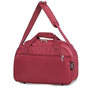 Aerolite 40x20x25 New and Improved 2020 Ryanair Maximum Size Holdall Cabin Luggage Under Seat Flight Bag, (Wine)