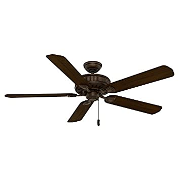 Casablanca 55002 Ainsworth 60-Inch 5-Blade Ceiling Fan, Provence Crackle with Smoked Walnut Espresso Blades