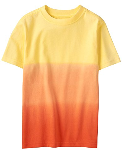 Gymboree Boys' Little Short Sleeve Crewneck Graphic TEE, red/Orange dip dye, S