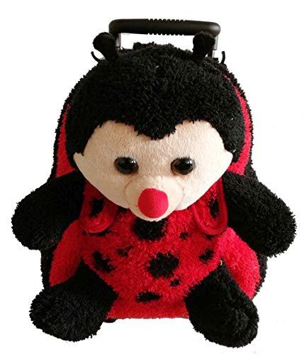 Popatu Red LadyBug Trolley Backpack