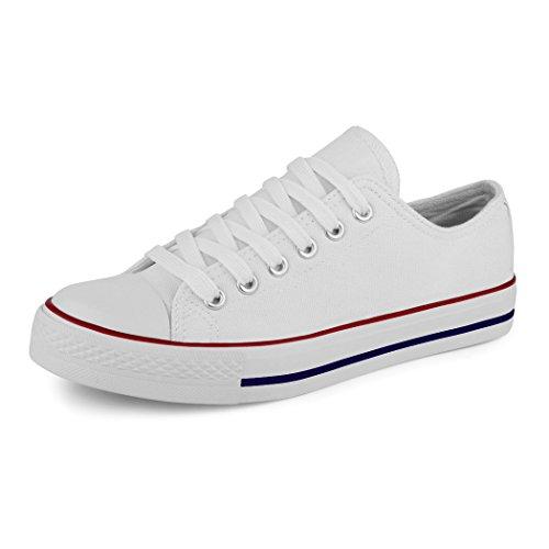 Best-botas para mujer zapatilla zapatillas zapatos de cordones estilo deportivo Bianco (new white blueline)