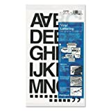 Press-On Vinyl Letters & Numbers, Self Adhesive, Black, 1 1/2h, 37/Pack (20 Pack)