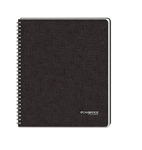 3 Pack of Cambridge Business Notebook with Pocket, Hardbound, 8.5 x 11 Inches, Black (06100)