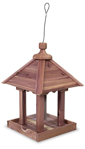 Pennington Cedar Pavilion Style Bird Feeder Amish Made in The USA
