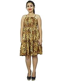 Spaghetti Strap Dress 100% Cotton Women Tunic Summer Beach Sundress