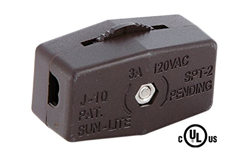 B&P Lamp Brown Inline Rotary Cord Switch For 18/2 Spt-2 Lamp ()