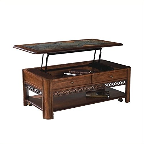 (Beaumont Lane Rectangular Lift-Top Wood Coffee Table with Storage)