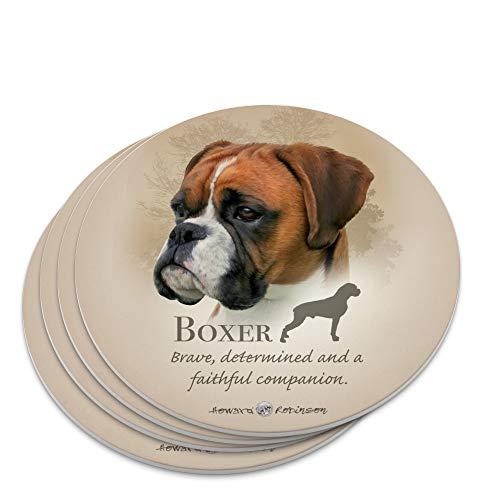 Boxer Dog Breed Novelty Coaster Set