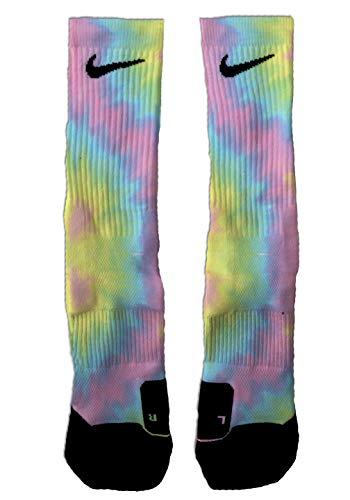 SETHSSOCKS Tie Dye Custom Elite Crew Socks Large
