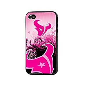 HOUSTON TEXANS IPHONE 4/4S PINK PHONE CASE-OFFICIALLY LICENSED PINK NFL PHONE CASE FOR IPHONE 4/4S