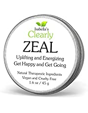 Isabella's Clearly ZEAL Uplifting and Energizing Happiness Balm, Get Happy and Get Going, Aromatherapy Mood Support Essential Oil Blend. Increase Joy and Boost Energy. 45g