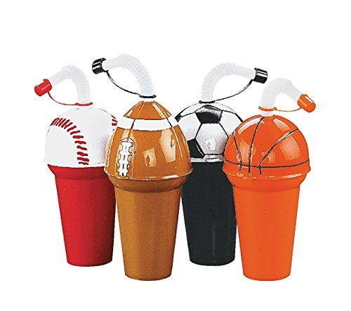 Sport Cup Assortment - Soccer, Football, Basketball, Baseball (3 of Each; 12 Total) 6