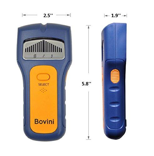 Stud Finder - Bovini MultiScanner Stud Sensor - Digital Wall Stud Finder Wood - Electronic Wall Scanner with Live AC WireWarning Detection Deep Scanning for Live AC Wire, Metal, Studs by Bovini (Image #3)
