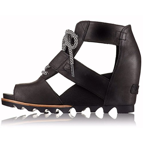 Sorel Womens Joanie Lace Leather Shoes Black Sea Salt esvJgqTDEr