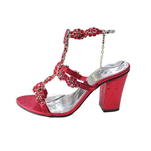 amp; Femme Femme Chaussures et Taille Soirée Walk 4 Swarovski Fashion W pour Mariée Stone Party Soirée L'usure W Britannique Bloc Original Mariage Sandale Talon xwpIqf8qY