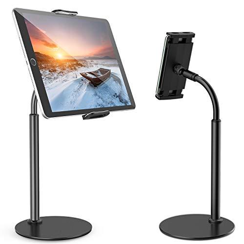 Tryone Tablet Stand, Gooseneck Tablet holder, 360 Degree Rotating Phone Holder Desk Stand, Flexible Desktop Tablet Stand…