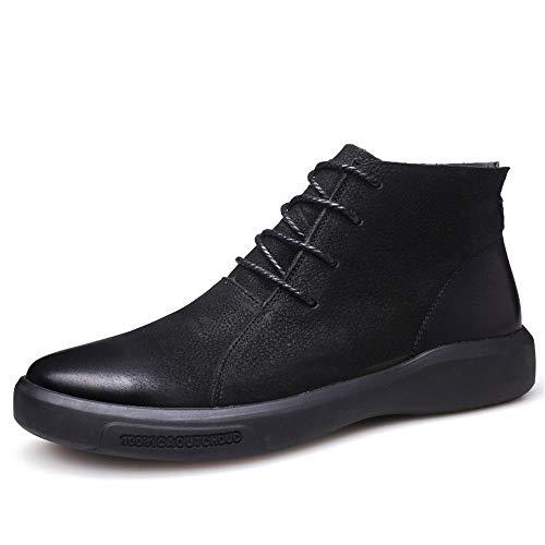 Noir 42 EU Bottes de Cheville à la Mode pour Hommes de Style Britannique Classique pour Hommes, Chaussures de Loisirs à Talon Plat et à Talon Plat,2018 Chaussures Homme Bottes et bottes