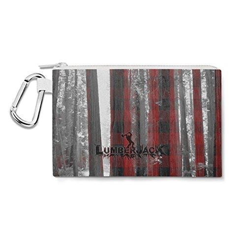 Lumberjack Canvas Zip Pouch - XL Canvas Pouch 12x9 inch - Multi Purpose Pencil Case Bag