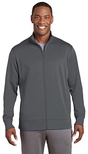 Sport-Tek Mens Sport-Wick Fleece Full-Zip Jacket (ST241) -Dark Smoke -L