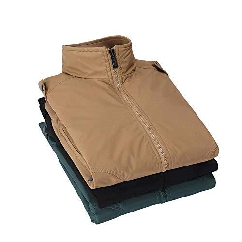 Leisure Stand Nero Battercake Khaki Softshell Sportswear Outdoor Funzionale Giacche Giacca Uomo Leggero Da Estiva Collar Grigio Vintage Comodo Bomber vSwnAqFISx