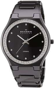 Skagen Women's 813LXBC Ceramic Black Ceramic Crystal Watch