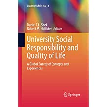 University Social Responsibility and Quality of Life: A Global Survey of Concepts and Experiences