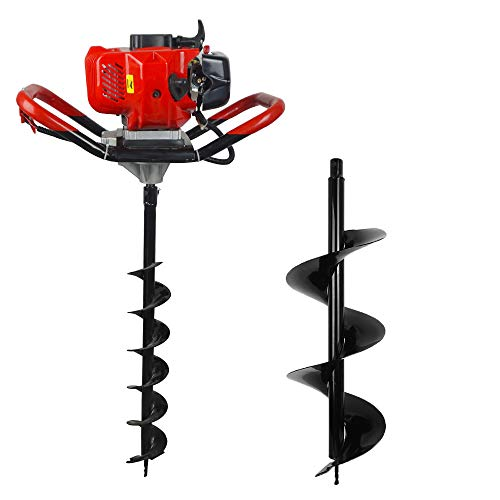 (1800W 2.5HP 52cc 2 Stroke Gas Powered Post Hole Digger With Earth Auger 6