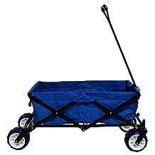 Impact Canopies 440010003-VC Collapsible Folding Beach Wagon Utility Garden Shopping Cart, Blue