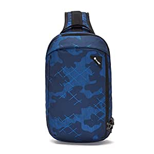 PacSafe Vibe 325 10 Liter Anti Theft Sling Bag/Crossbody-Fits 13 inch Laptop, Blue Camo