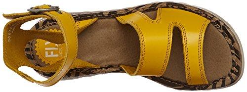 FLYA4|#Fly London Tily722fly, Heels Sandals para Mujer Amarillo (Lemon 007)