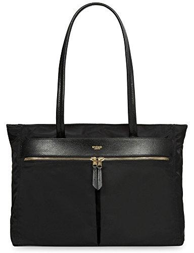 knomo-mayfair-grosvenor-nylon-top-zip-tote-black