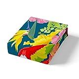 Erosebridal Palm Leaves Coverlet Set, Exotic Floral Quilted Coverlet King Size for Kids Boys Girls Children Woodpecker Bedspread, Blooming Flower Quilt Lightweight for Bedroom Living Room