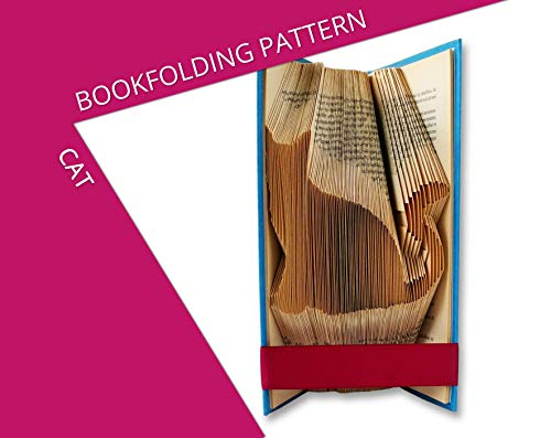Bookfolding pattern Cat - Give an old book a new life in 3 easy steps ()