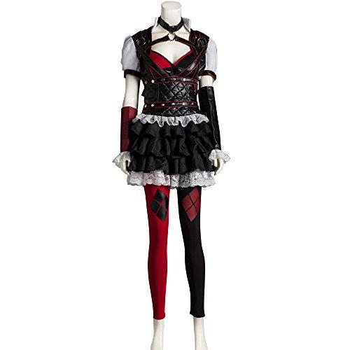 [Mycos Batman Arkham Knight Harley Quinn Christmas Dress Cosplay Costume] (Batman Costumes Arkham Knight)